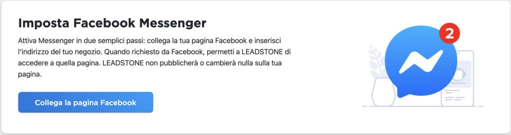 Facebook Messenger su Leadstone